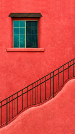 Red House Wall Window Stairs