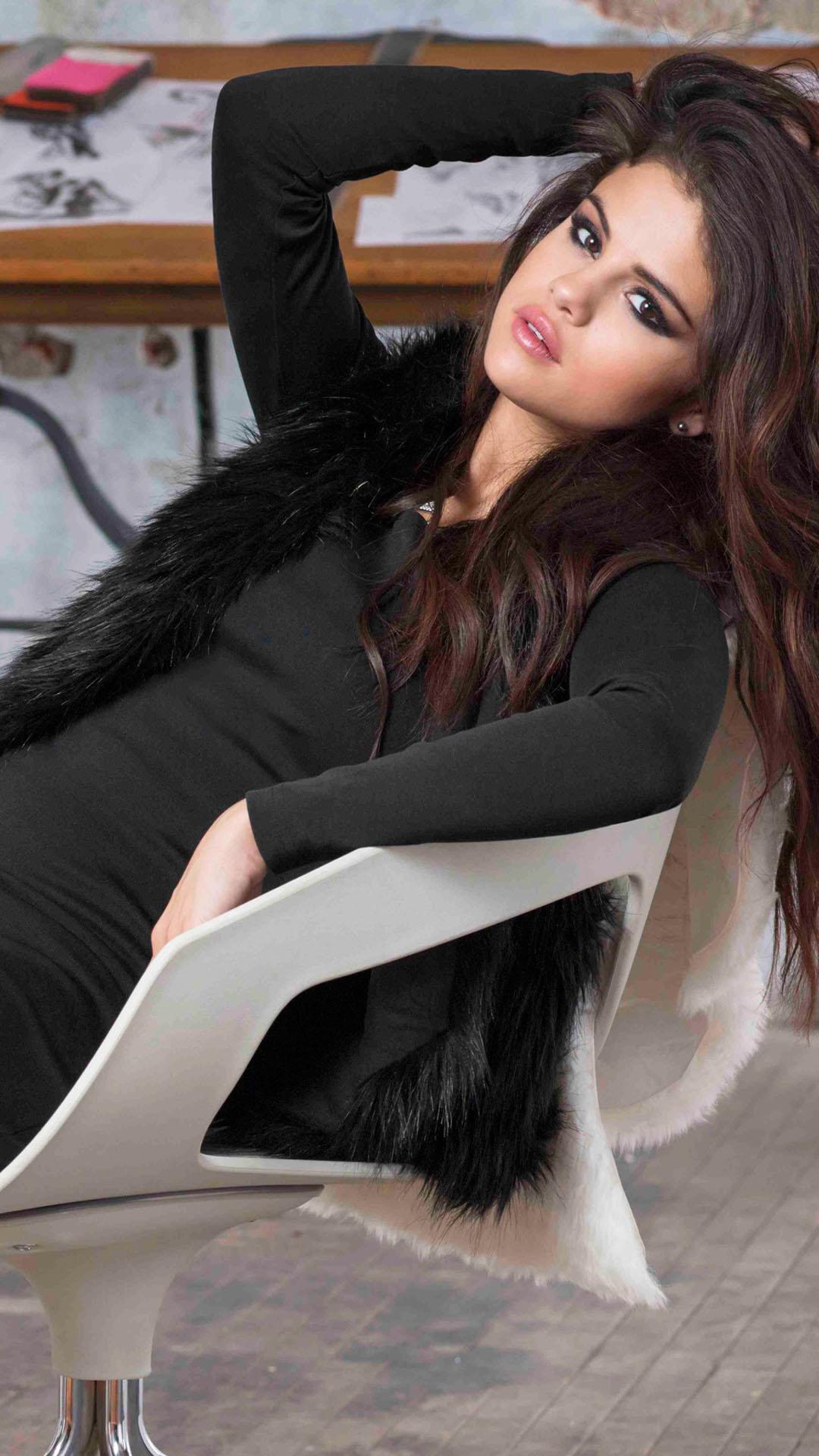 Selena Gomez Brown Long Hair