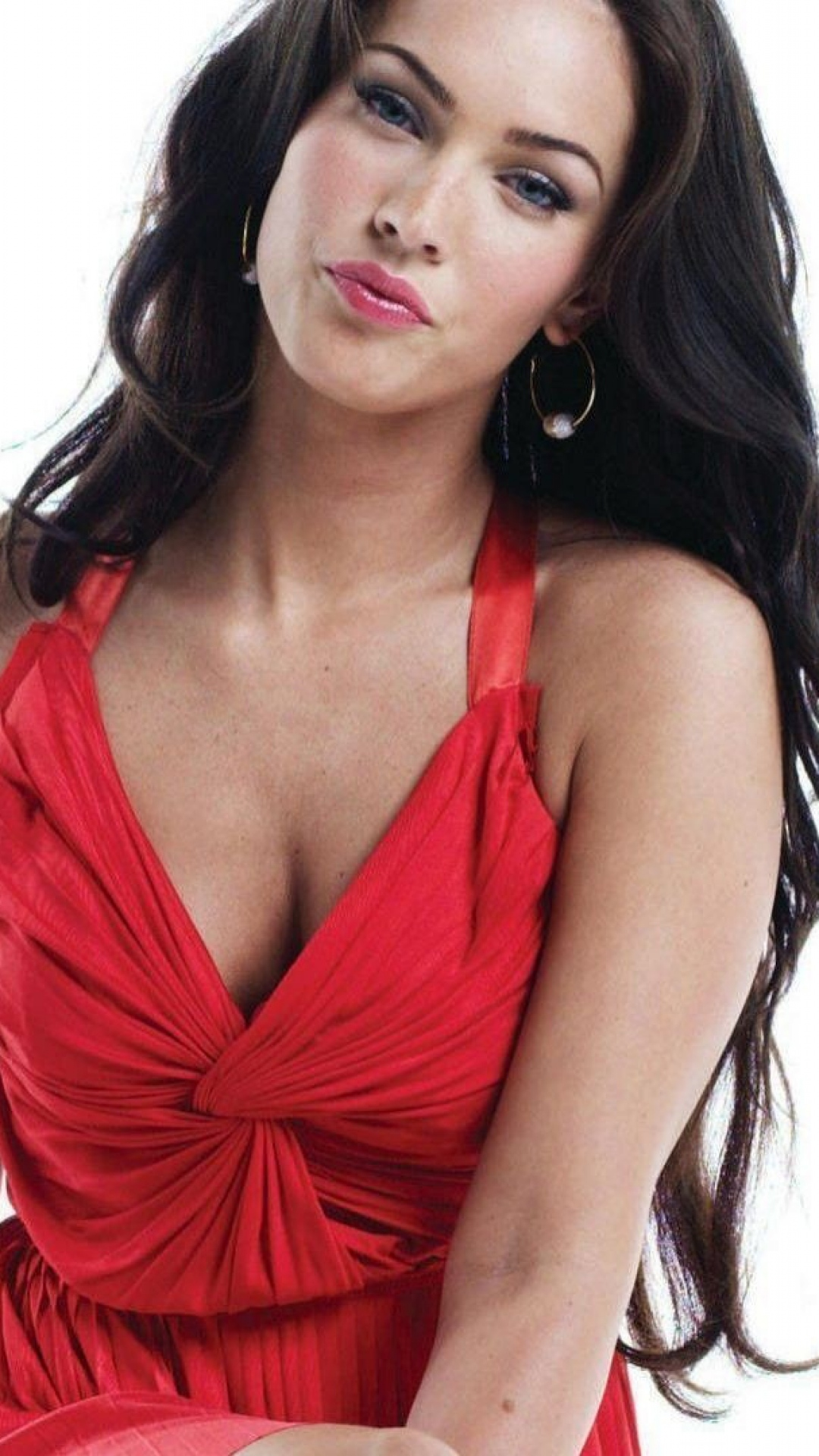 Megan Fox red dress
