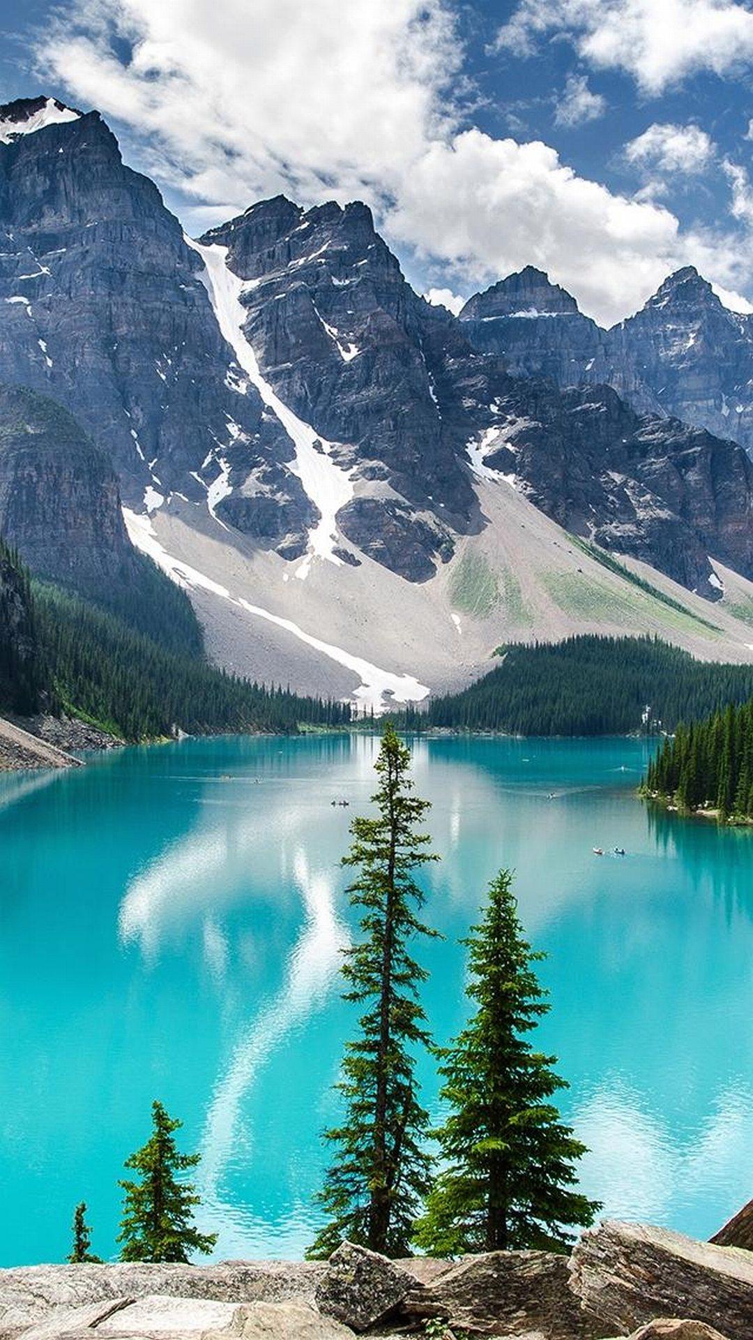 Mountain blue lake