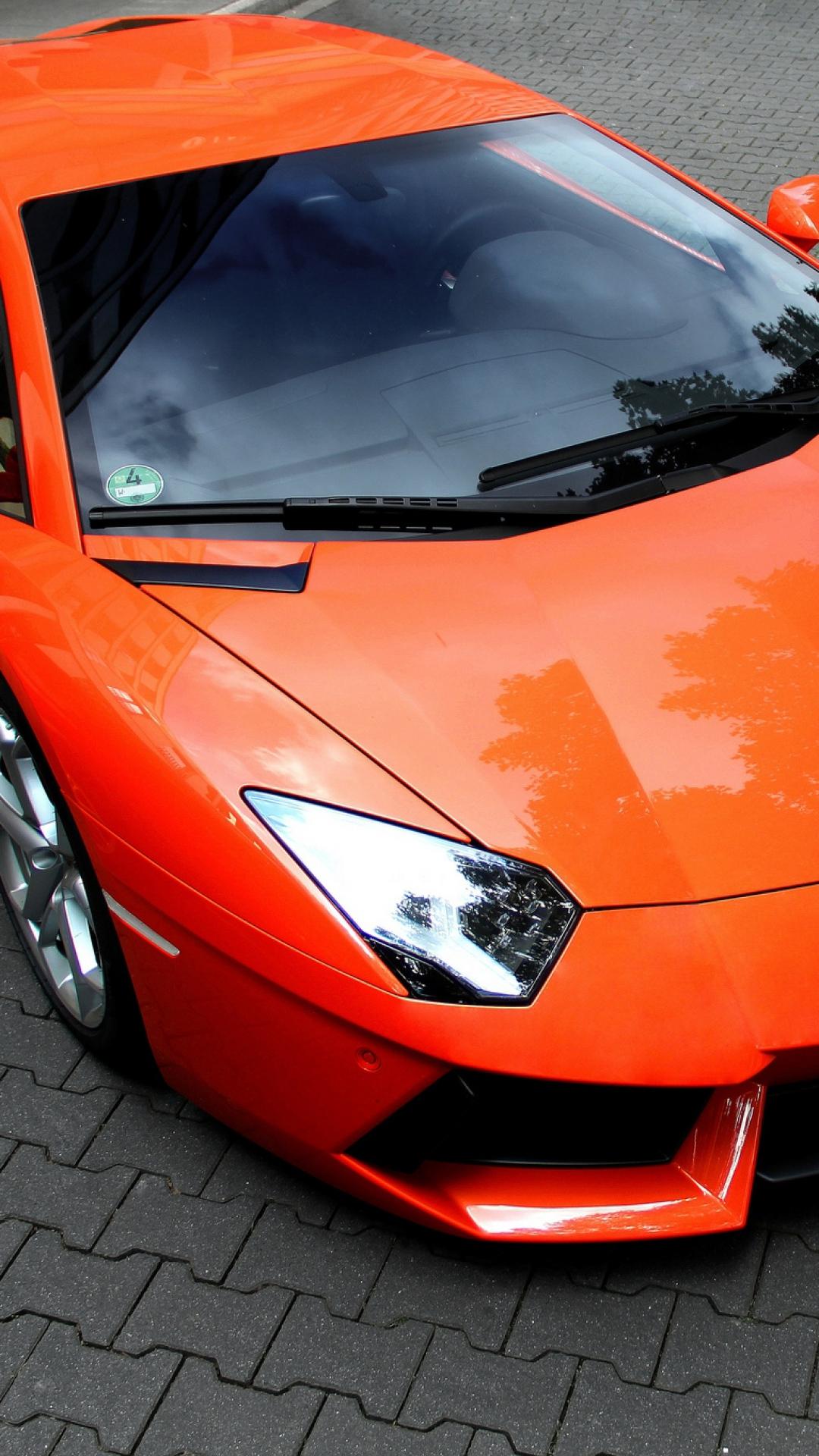 Orange Lamborghini Aventador - Best htc one wallpapers ...