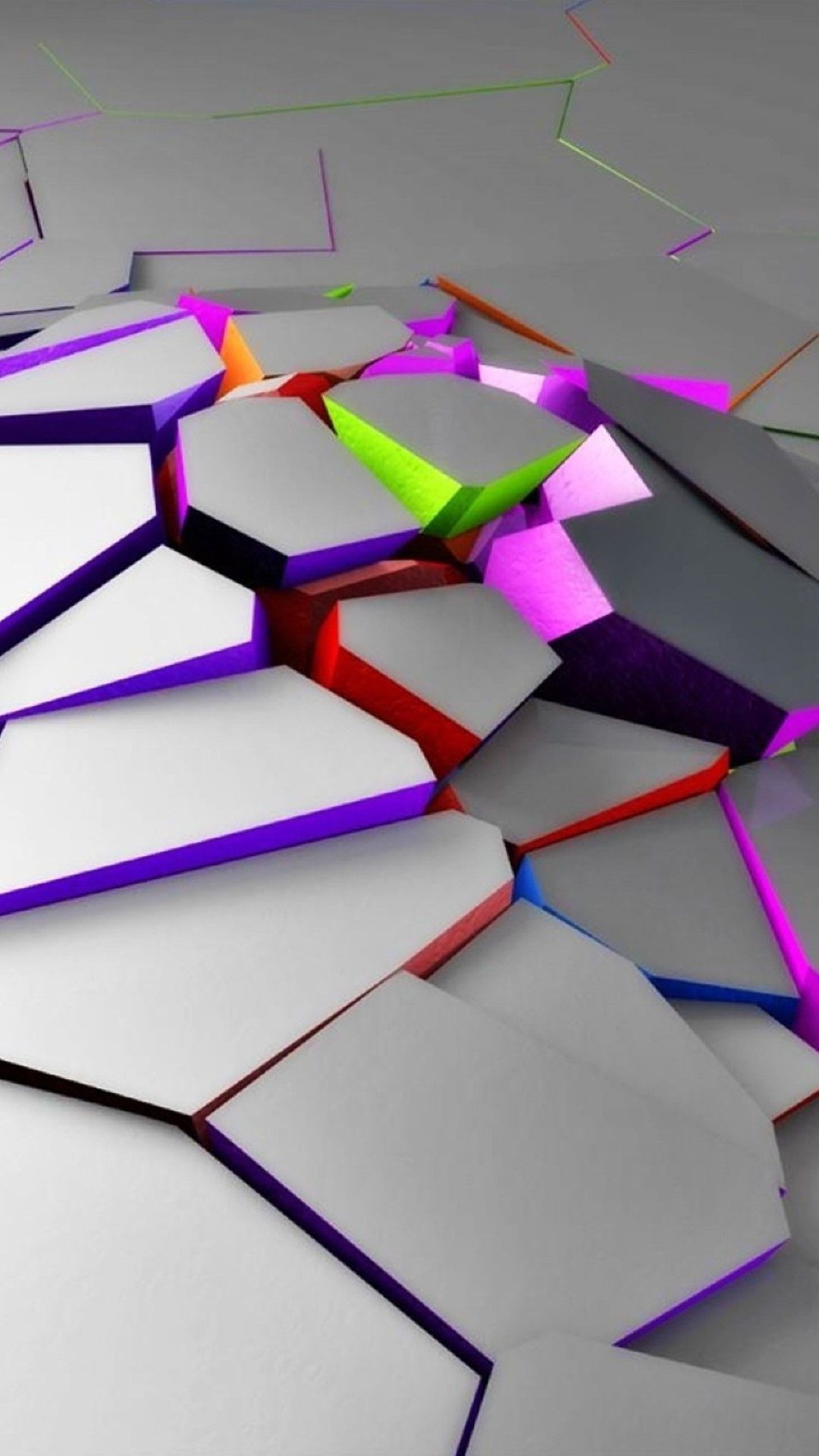 3d neon cracks best htc one wallpapers free and easy to - Neon hd wallpaper for mobile ...
