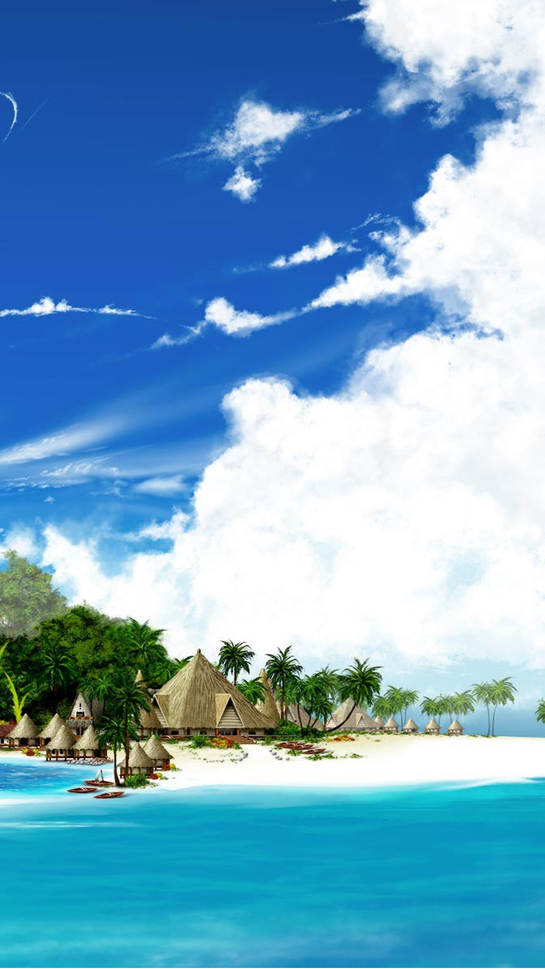 Beach resort beach