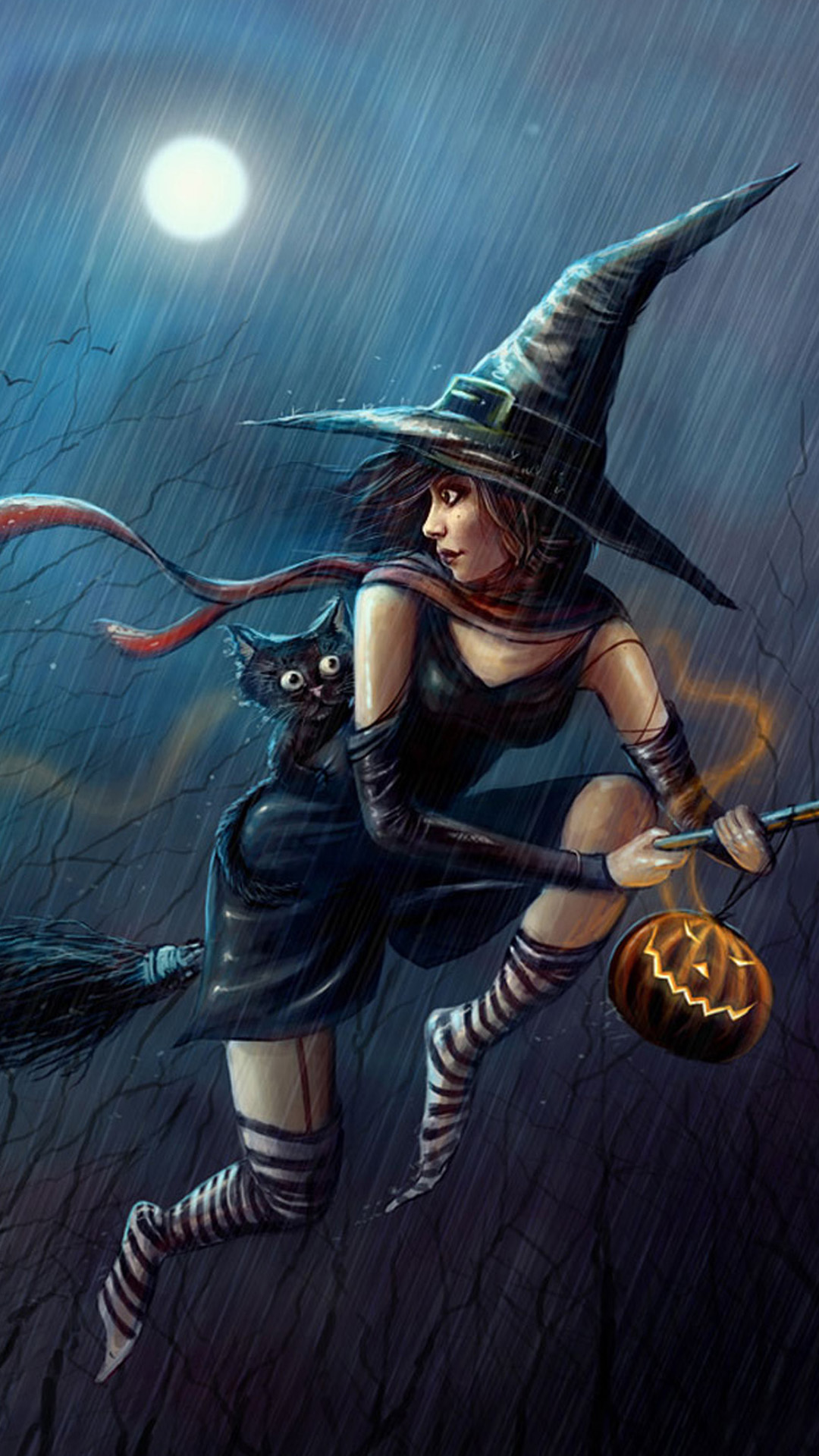 Evil witch Halloween