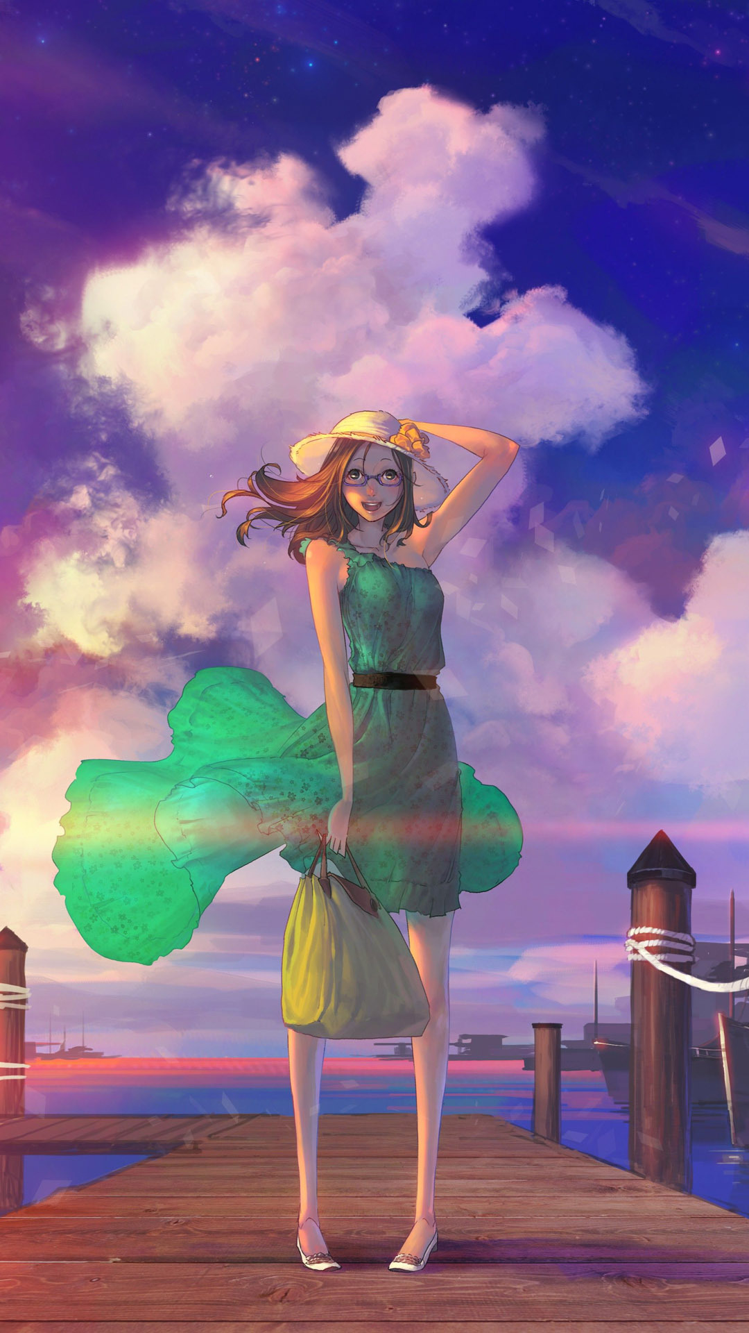 Girl on the dock anime
