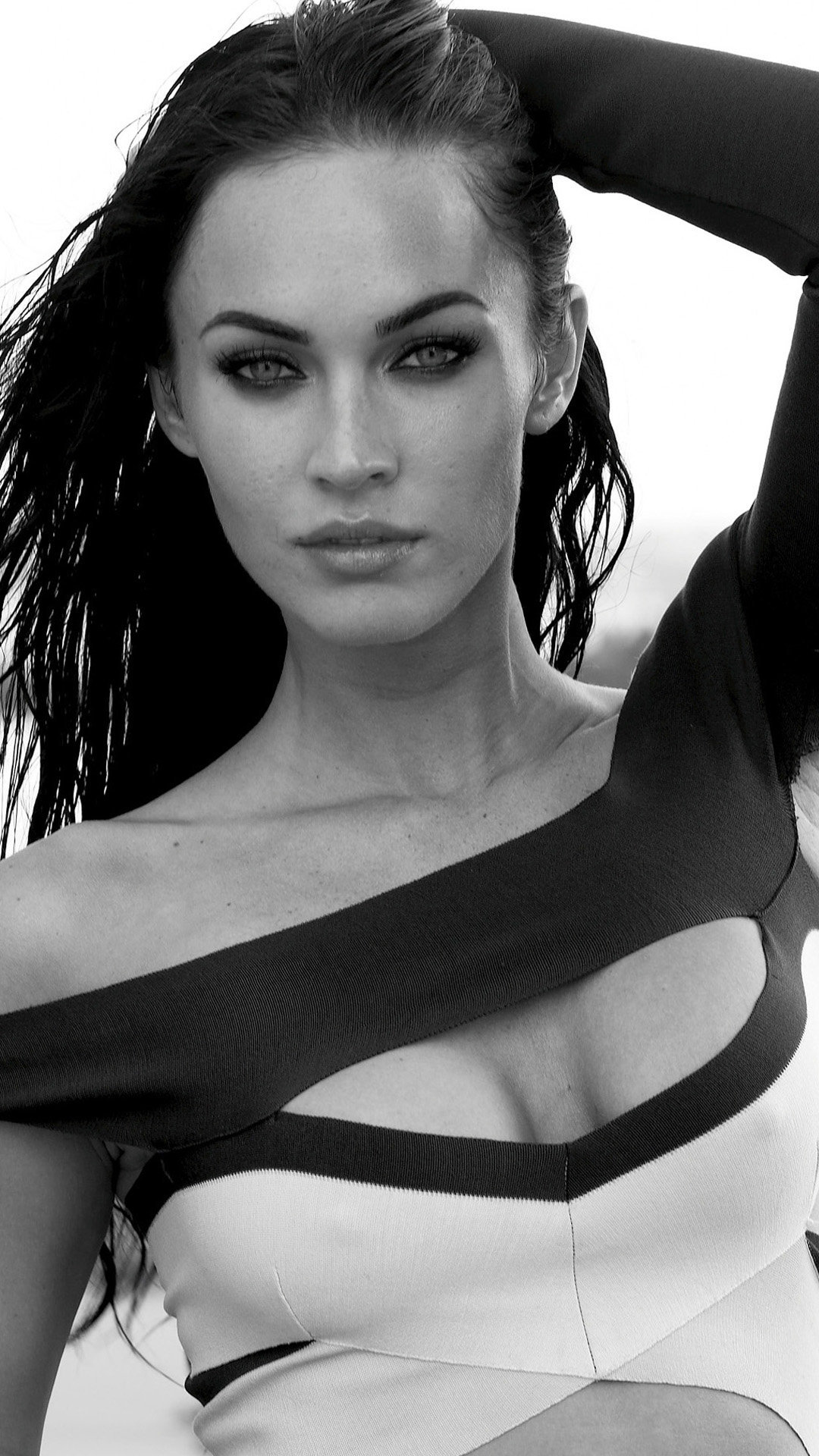Megan Fox Blank and white