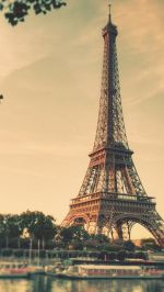 Eiffel Tower Paris Sunrise Tilt Shift