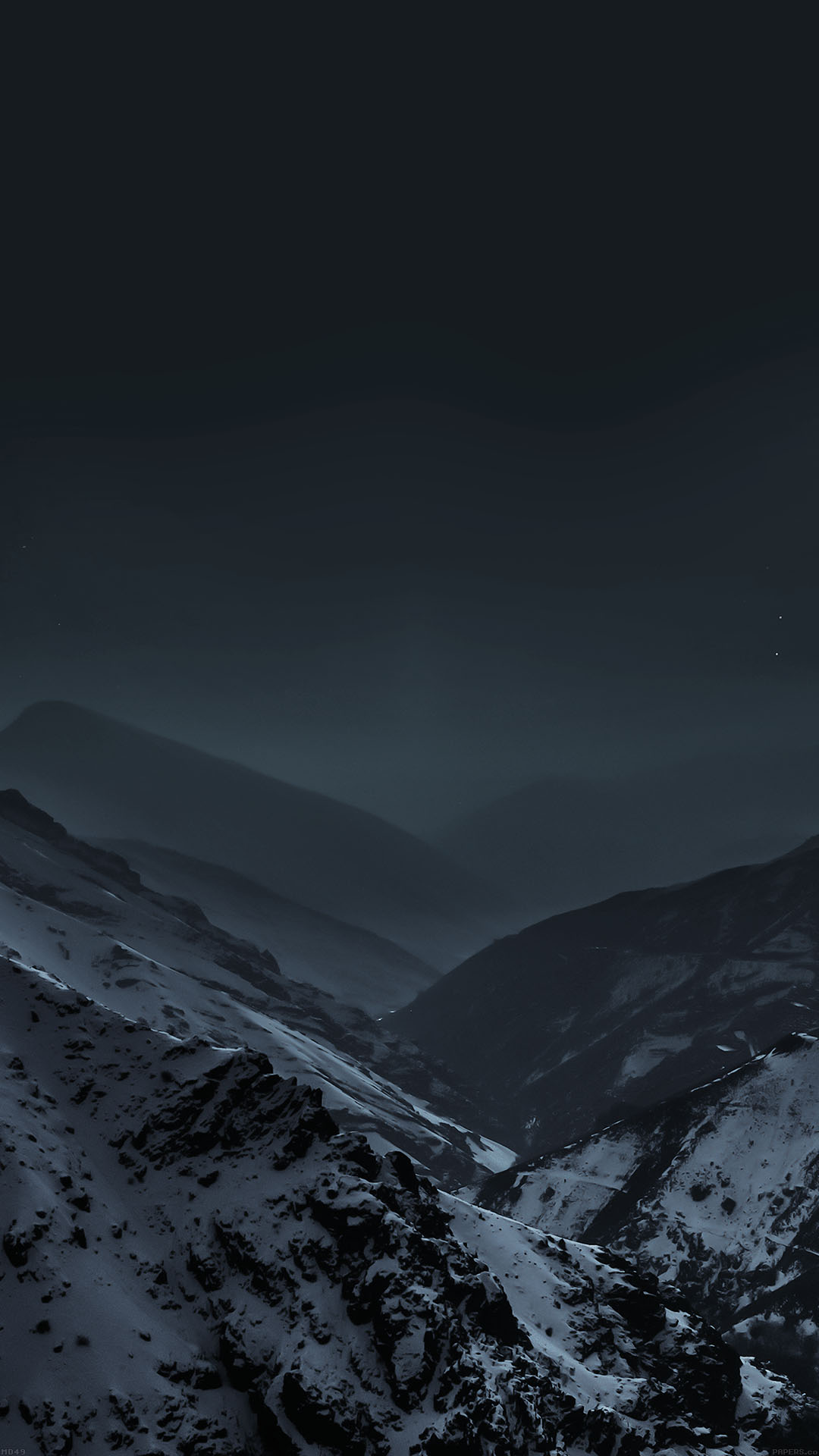 Mountains At Night Fog Snow /></p> <div style=