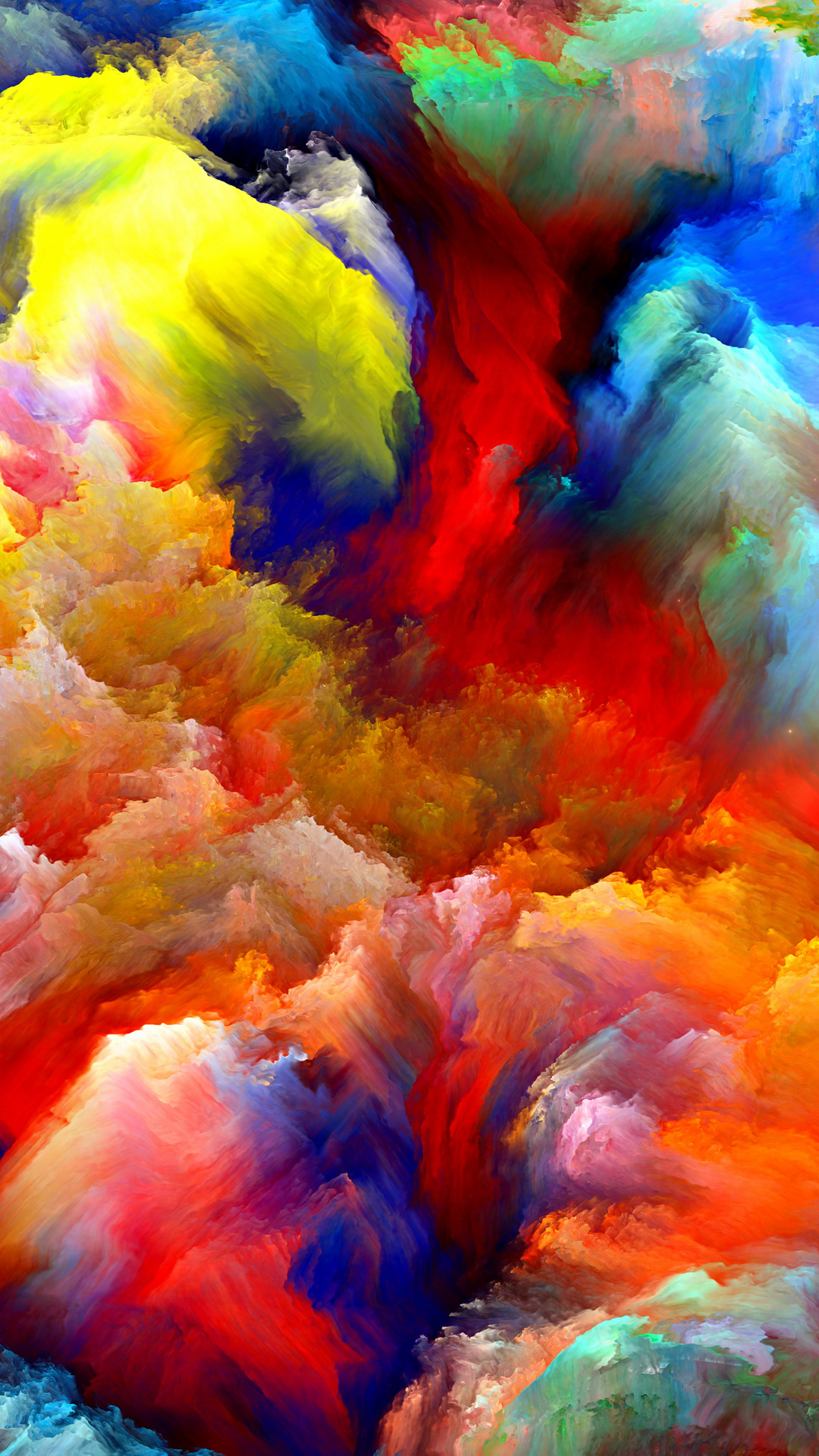 oil painting colorful clouds best htc one wallpapers