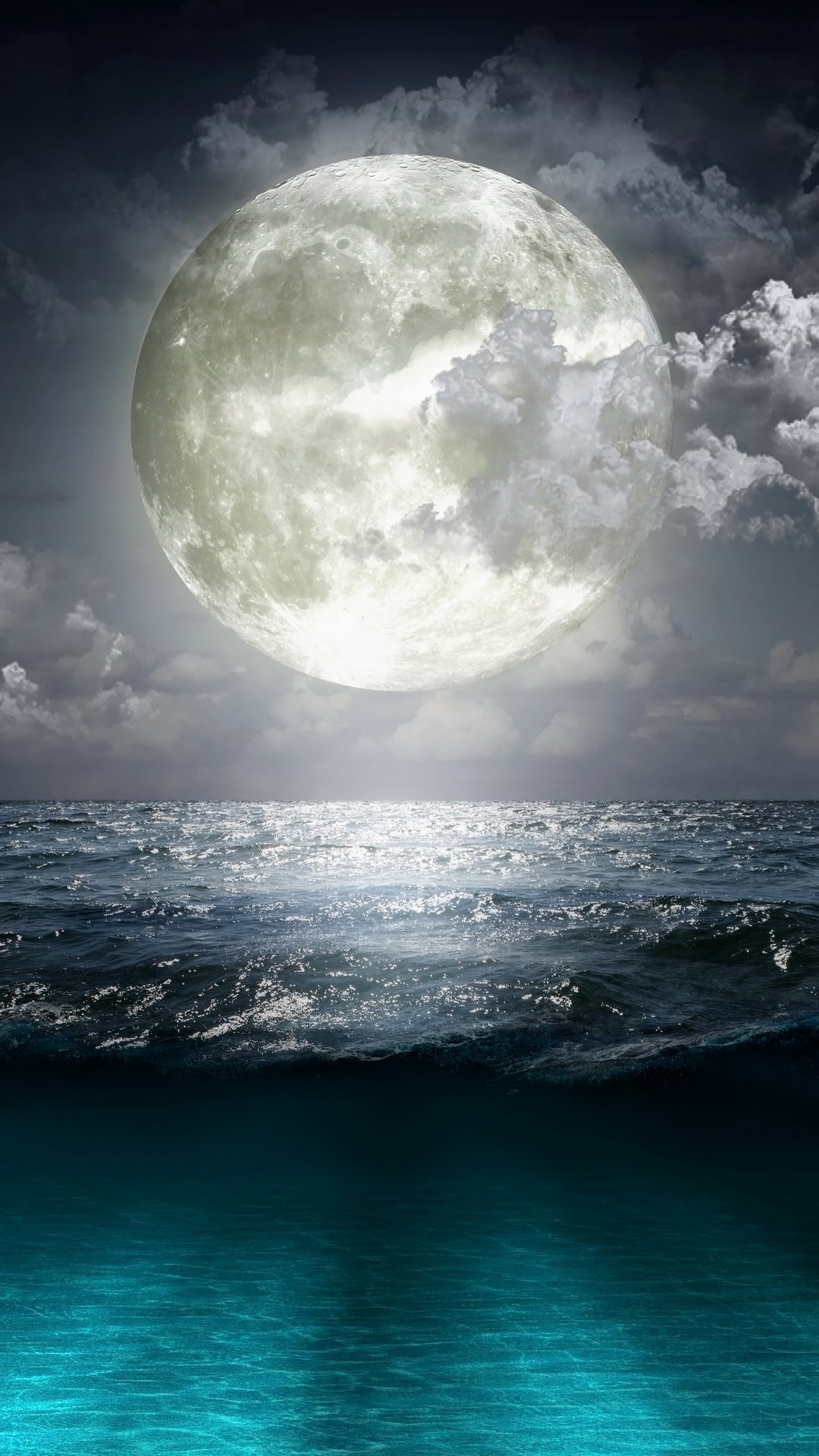 Super Moon Blue Ocean