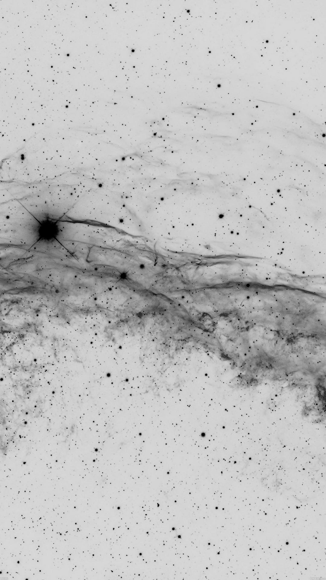 Abstract Black Stars Fog Dots