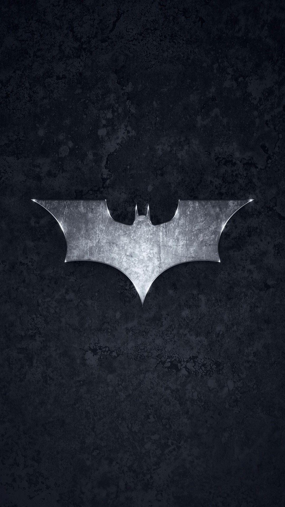 Batman Logo Brushed Metal
