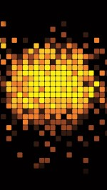 Glowing rounded square abstract