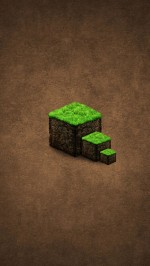 Green Grass Cube Steps