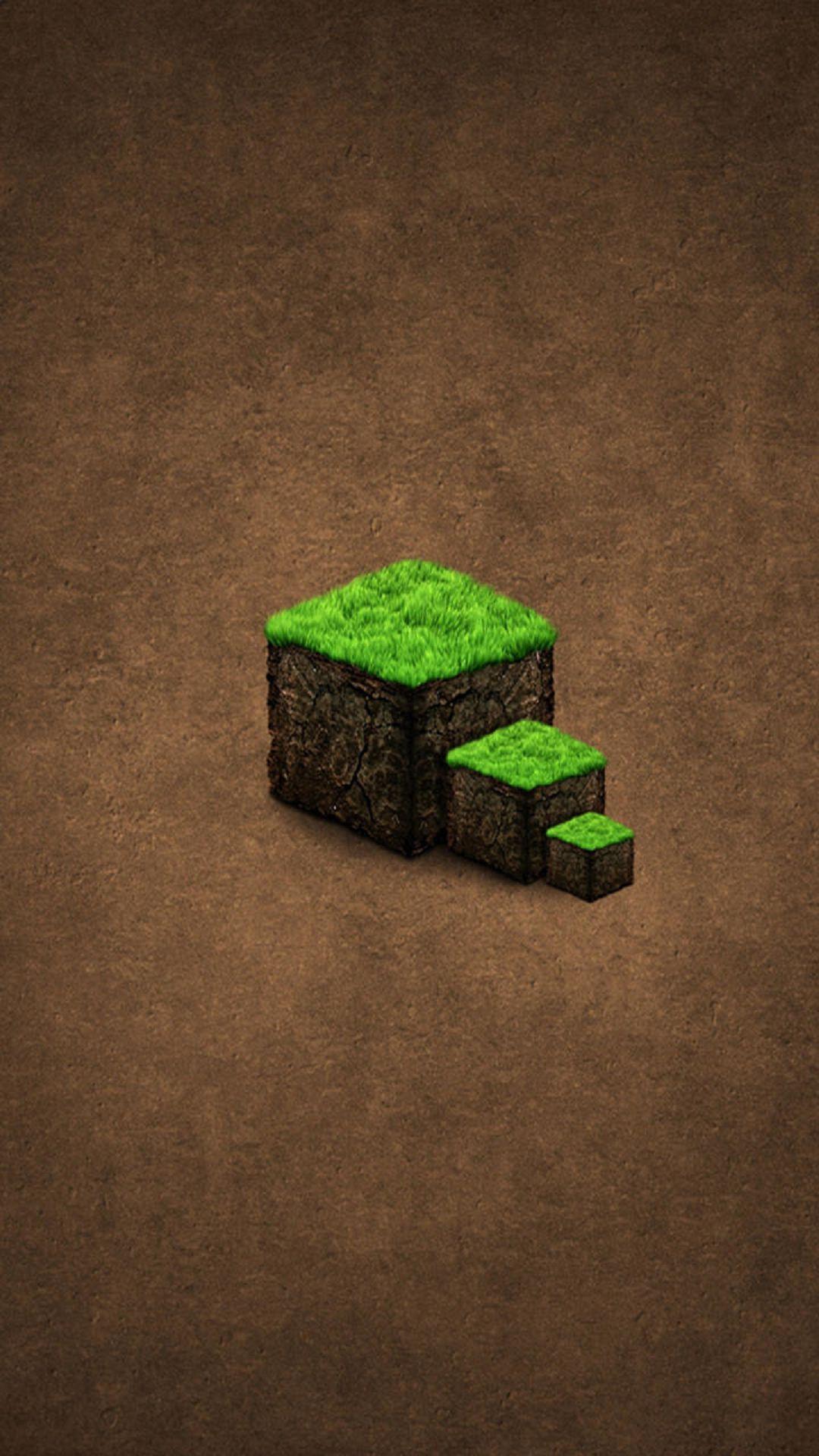 Green Grass Cube Steps