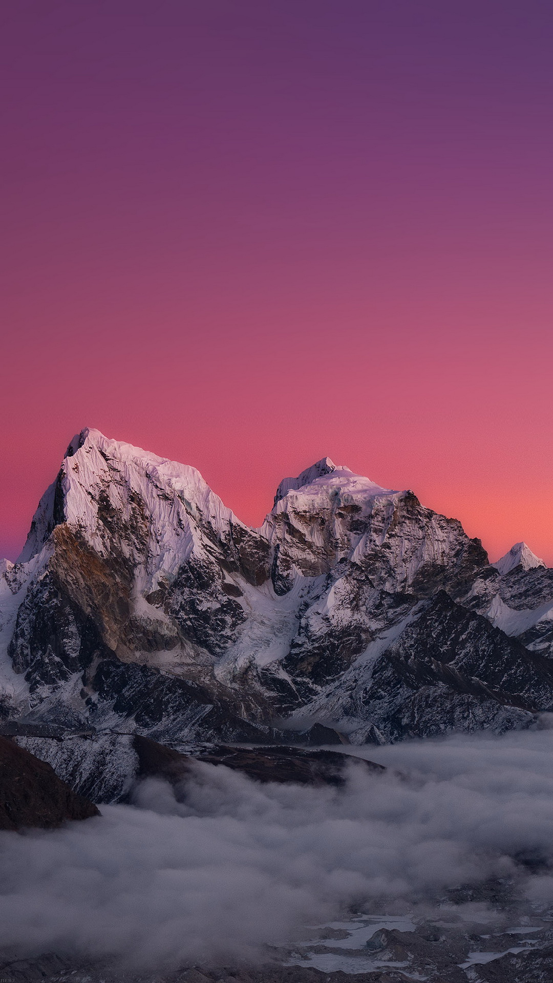Himalaya sunset mountain
