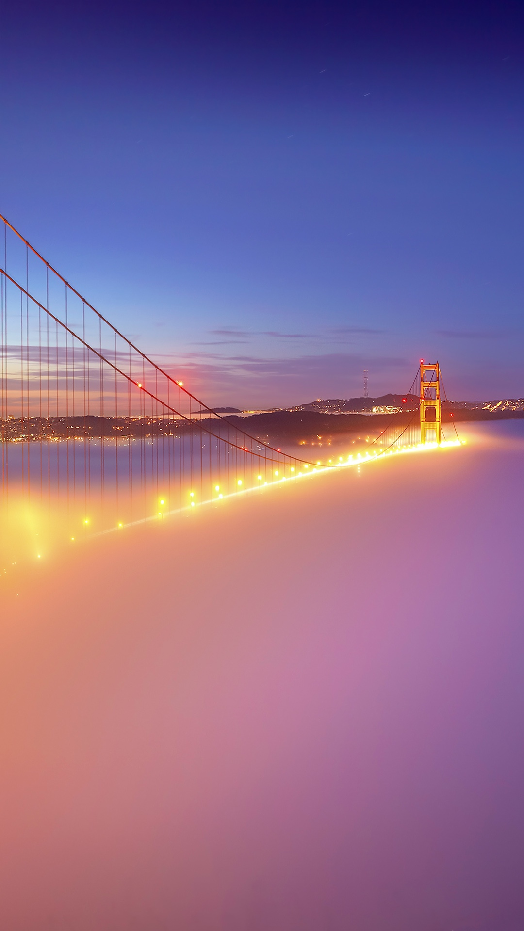 San Francisco Golden Gate Bridge Fog