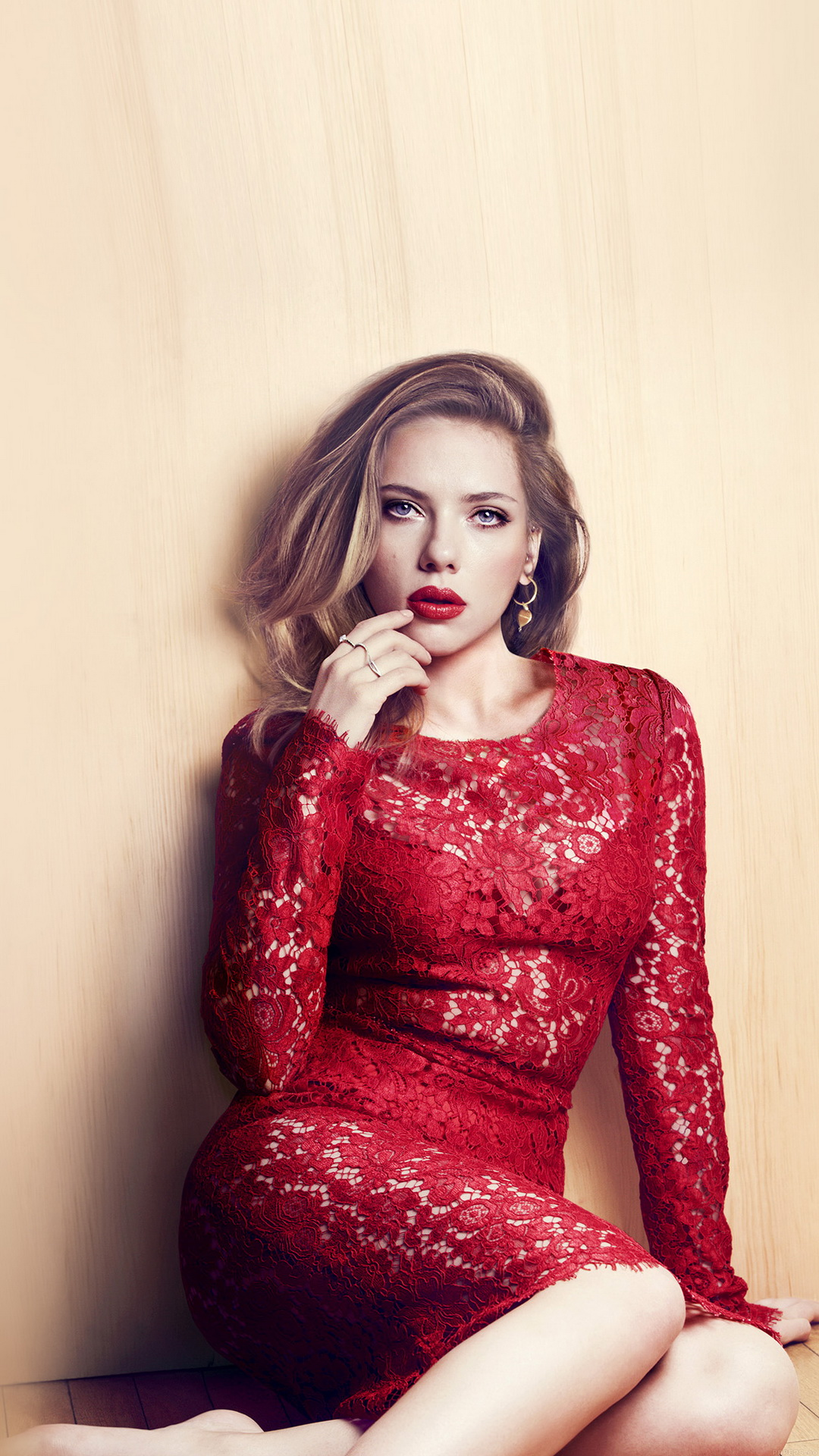 Scarlett Johansson Wallpaper: Scarlett Johansson Red Dress