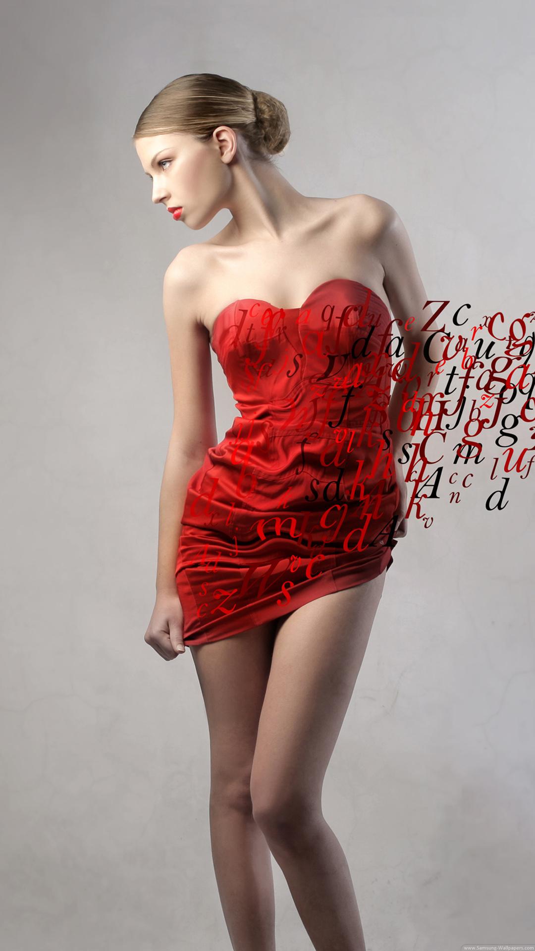 Fashion Model Red Dress