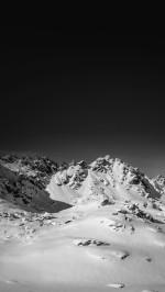 Snow mountain nature