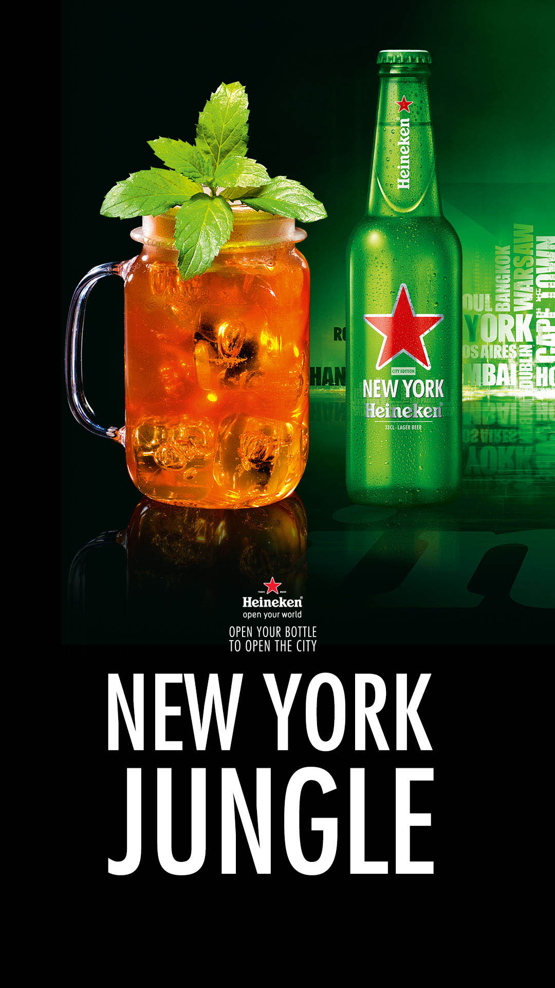 New York Jungle Cocktail Heineken