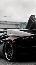 Car Lamborghini Aventador black