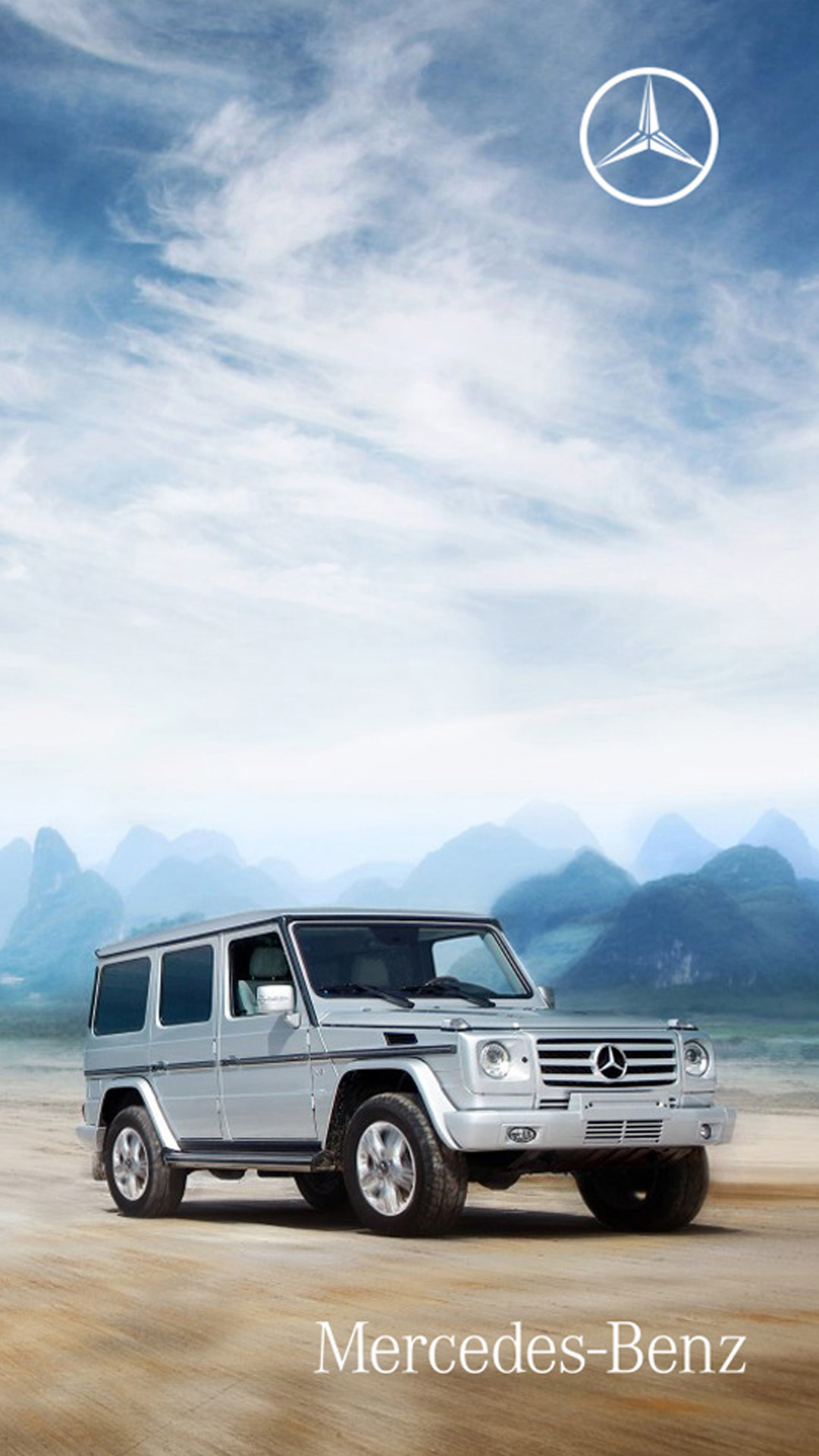 mercedesbenz car desert htc one wallpaper