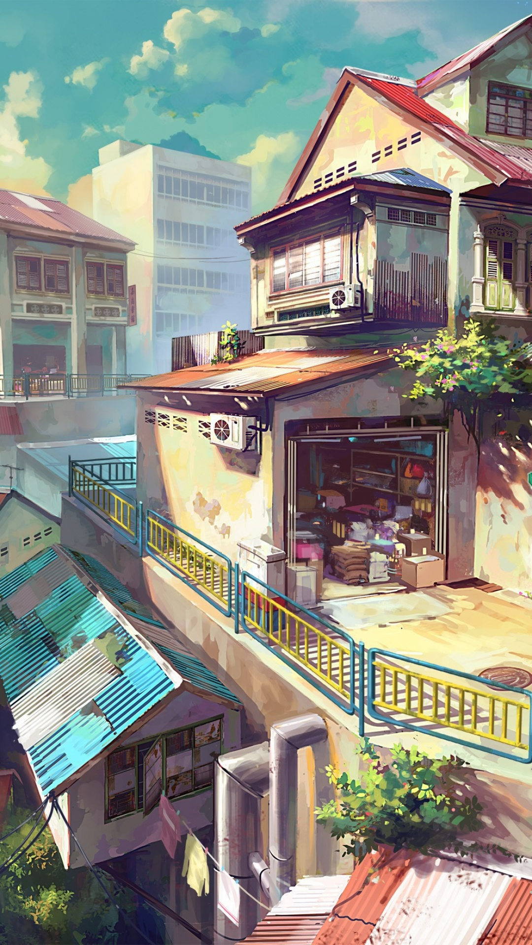 Japanese anime painting city