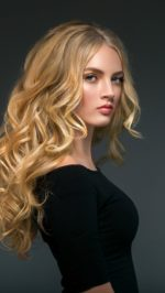 Blonde Girl Black Dress