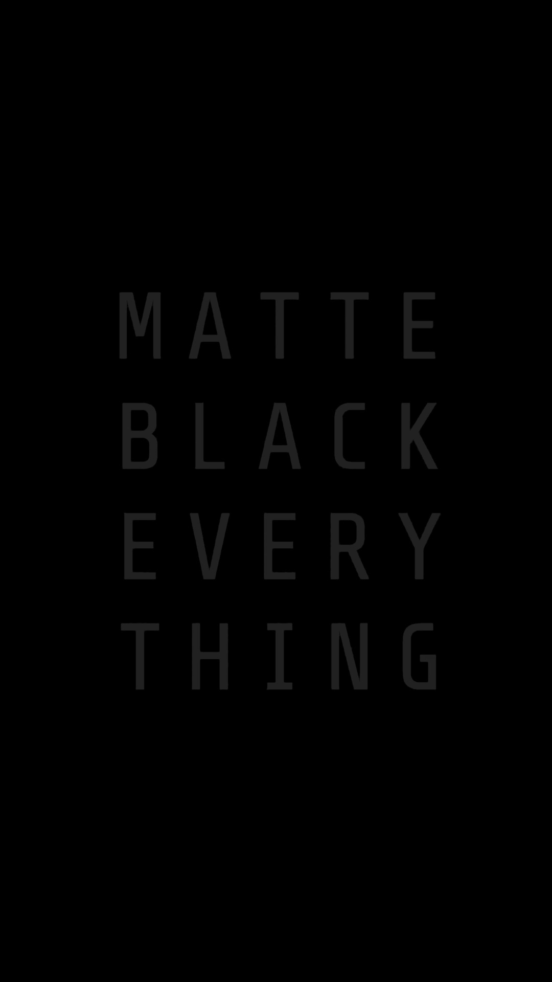 Matte Black Everything MKBHD
