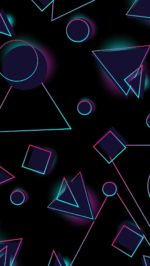 Neon Circles And Triangle