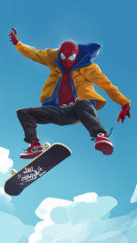 Spiderman into the spider verse 2 skateboarding