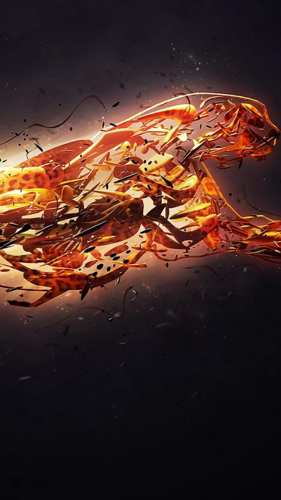 hd-htc-wallpaper-3D-wild-fire-cat