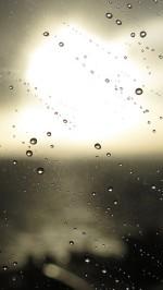 Macro glass a drop of rain