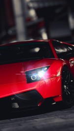 Red Lamborghini Murcielago Superveloce