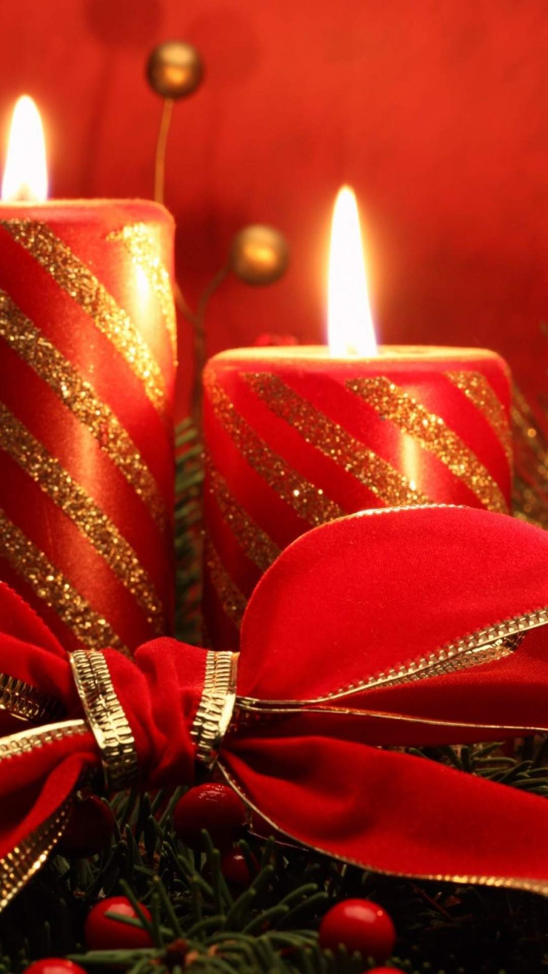 Christmas holiday candles - Best htc one wallpapers