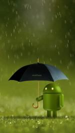 Android Robot Doll Rain