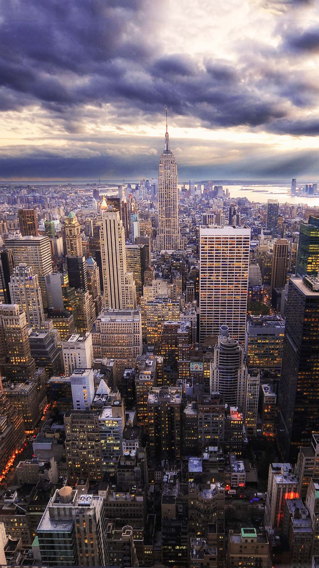 HDR New York Skyline View - Best htc one wallpapers