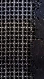 Metal mesh cracks scratches