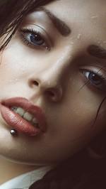 Hot girl piercing