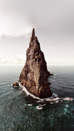 Island Of Red Papillon Cliff Sea