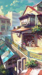Japanese anime painting city